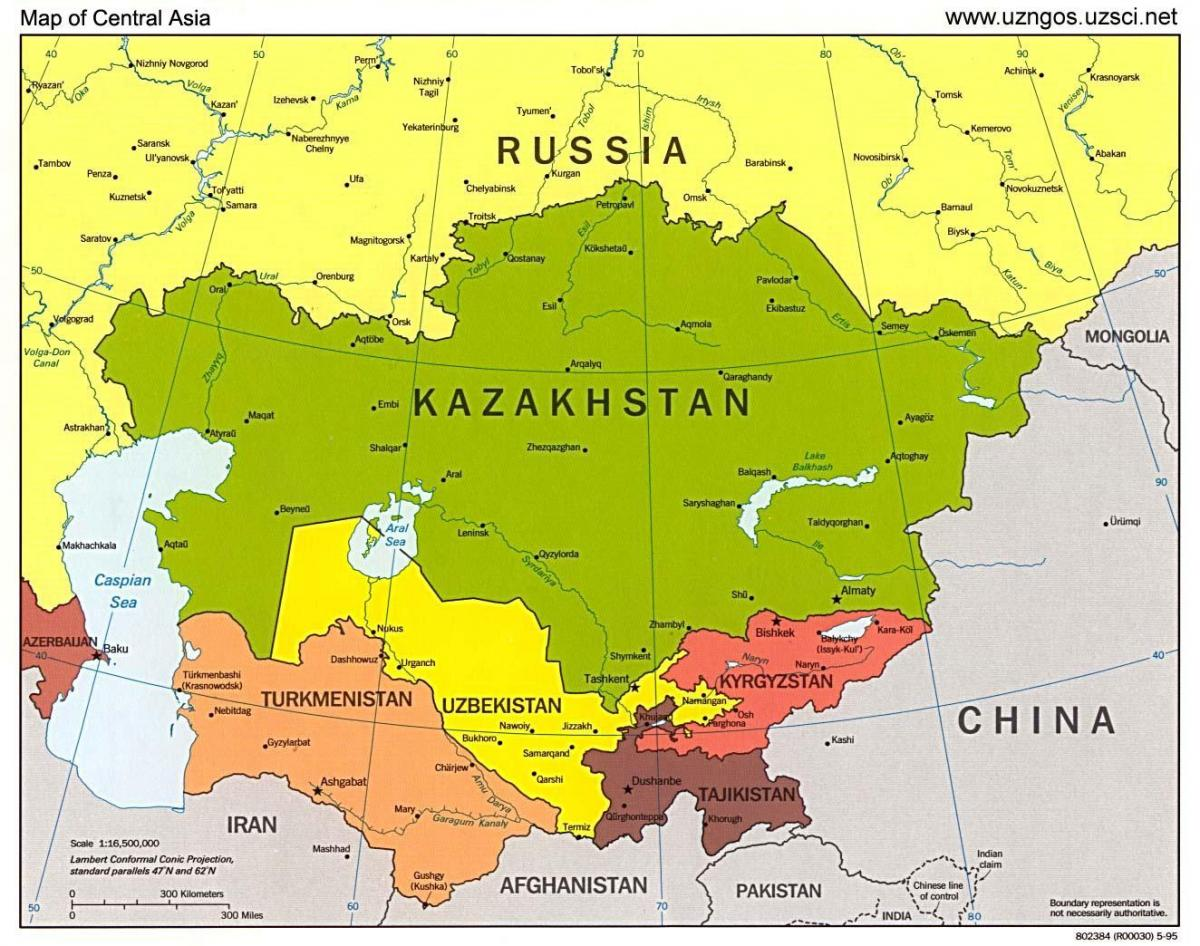 map of Kazakhstan map asia