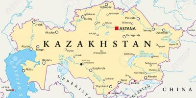 Map of astana Kazakhstan