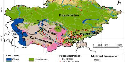 Map of Kazakhstan climate