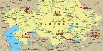 Kazakhstan cities map