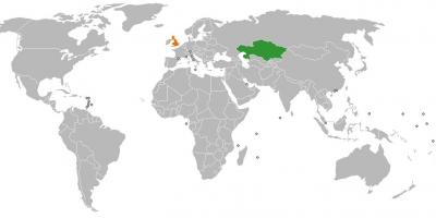 Kazakhstan location on world map