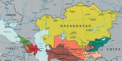 Kazakhstan map - Maps Kazakhstan (Central Asia - Asia)