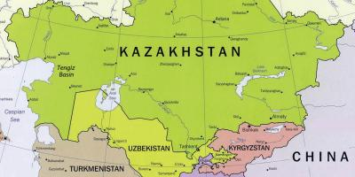 Map of tengiz Kazakhstan